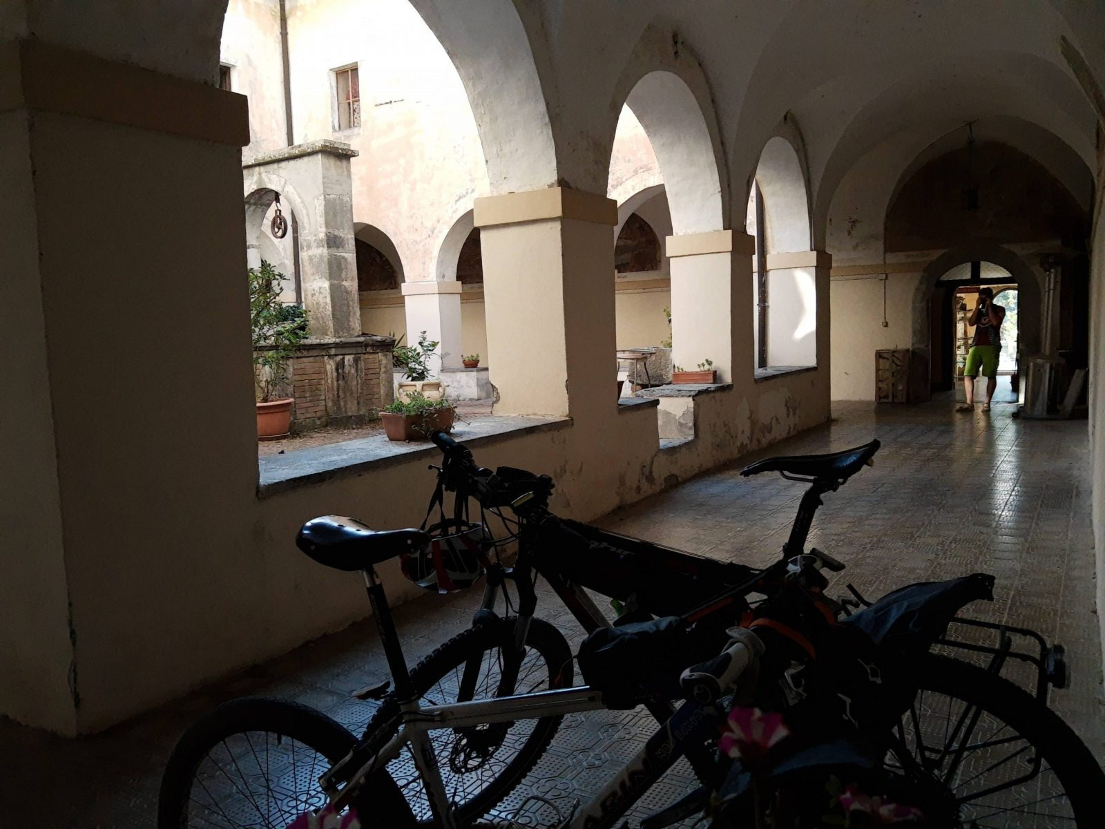 Picture of our bikes in Bolsena