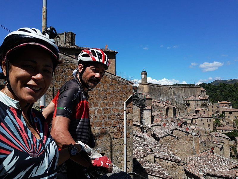 Picture from Sovana during our bike tour