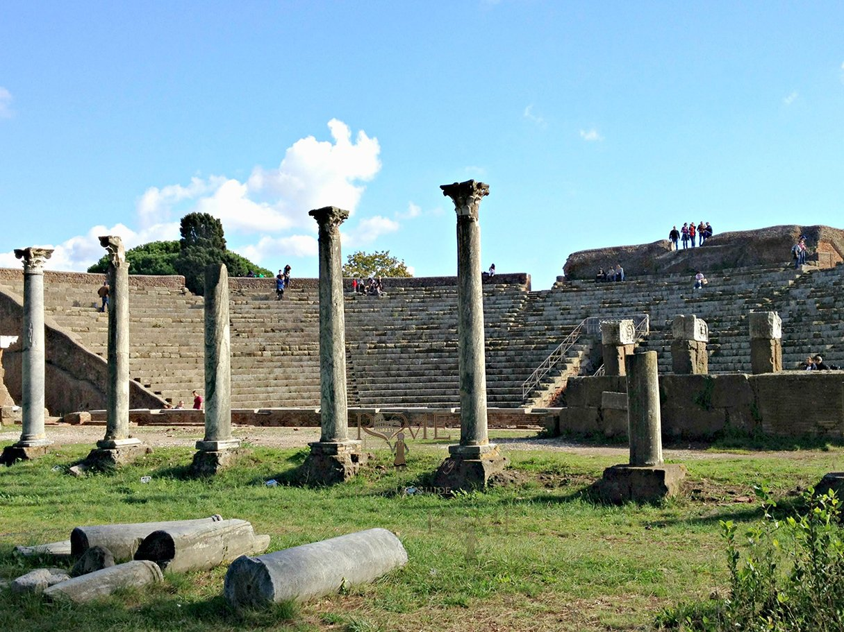 Ostia Antica Tour in the ancient Theater